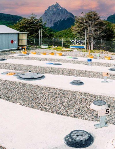 Estación de servicio Rio Olivia, tanques de combustibles