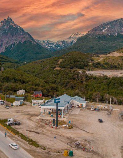 Estación de servicio Rio Olivia, vista desde el dron 2