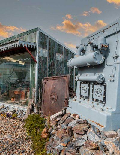 Museo y vista de máquinas