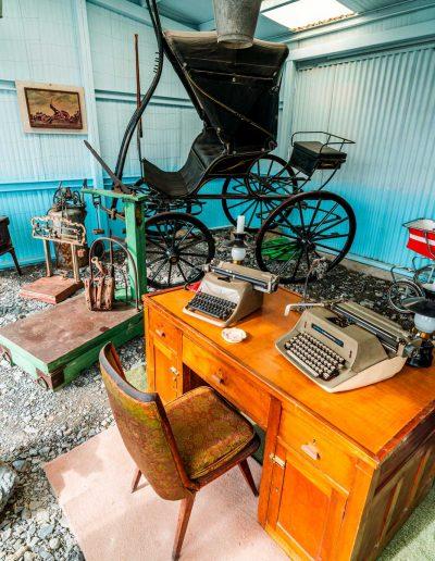 Museo, vista accesorios utilizados